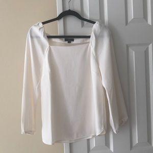 J. Crew square neck blouse in 365 crepe